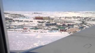 landing in Iqaluit Nunavut Canada