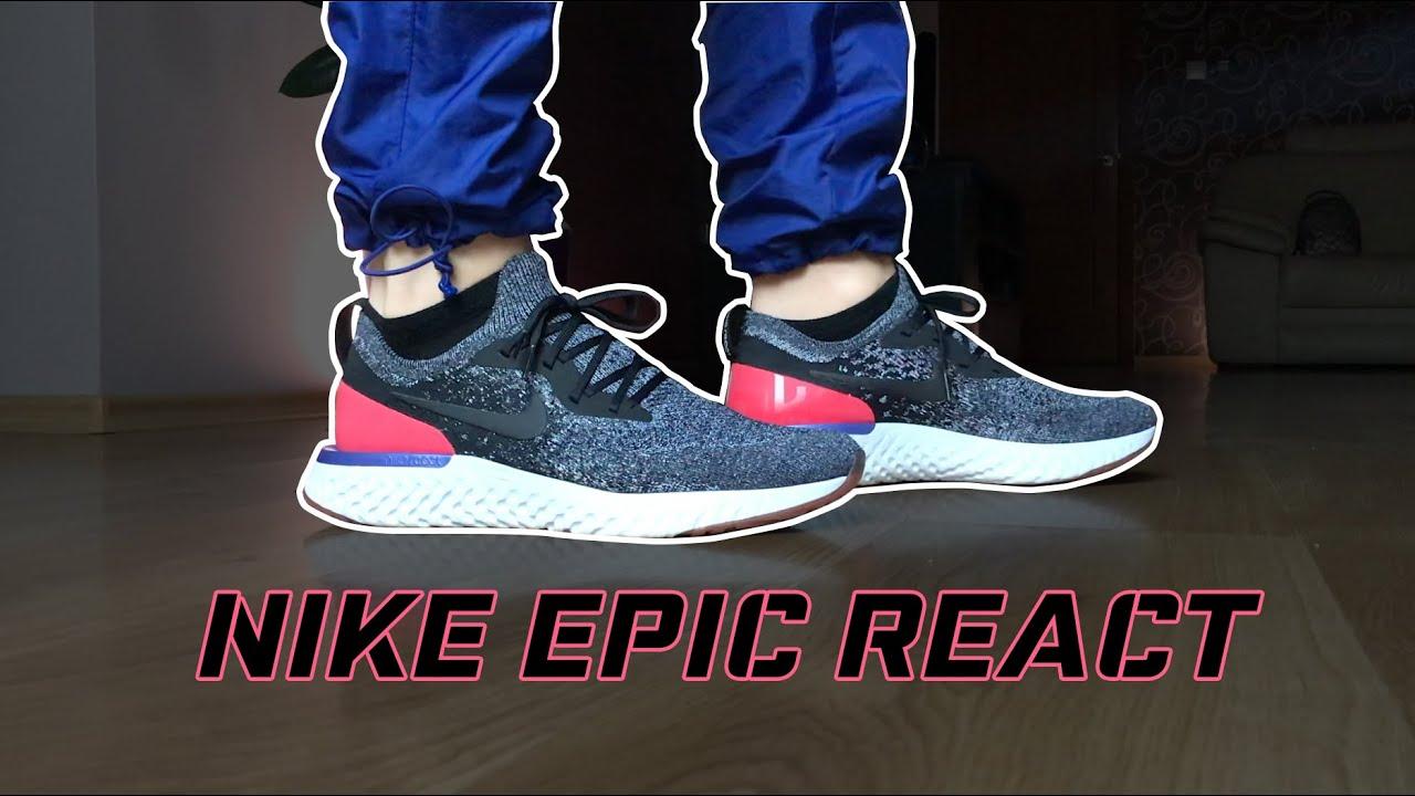 Nike Epic React / Black/Black-White-Red
