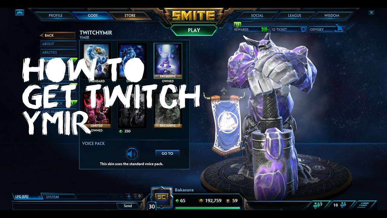 How To Get Twitch Ymir Without Smite In Game Client Youtube