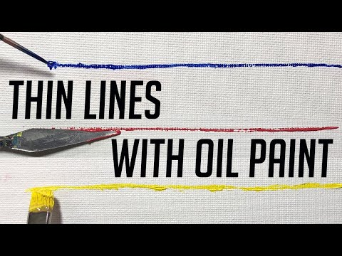 Oil Painting How To Make Thin Lines