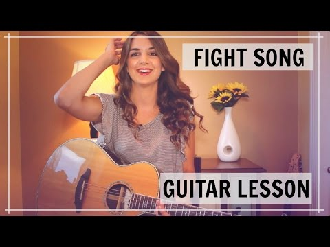 Fight Song - Rachel Platten Guitar Tutorial | Lesson