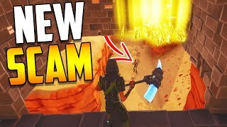 'NEW SCAM' The Disappearing Trap Scam BEWARE! Scammer Obtient Scammed dans Fortnite Sauver le monde