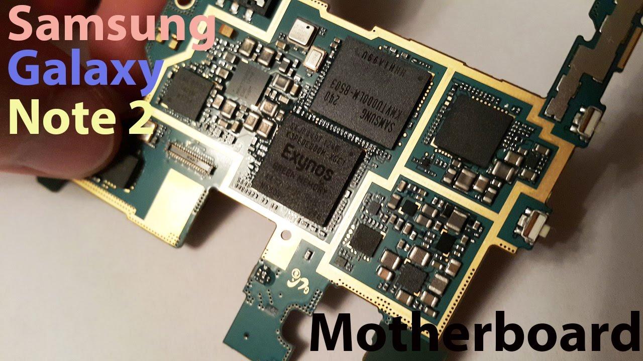 Samsung Galaxy Note 2 motherboard - материнская плата для телефона из Китая!