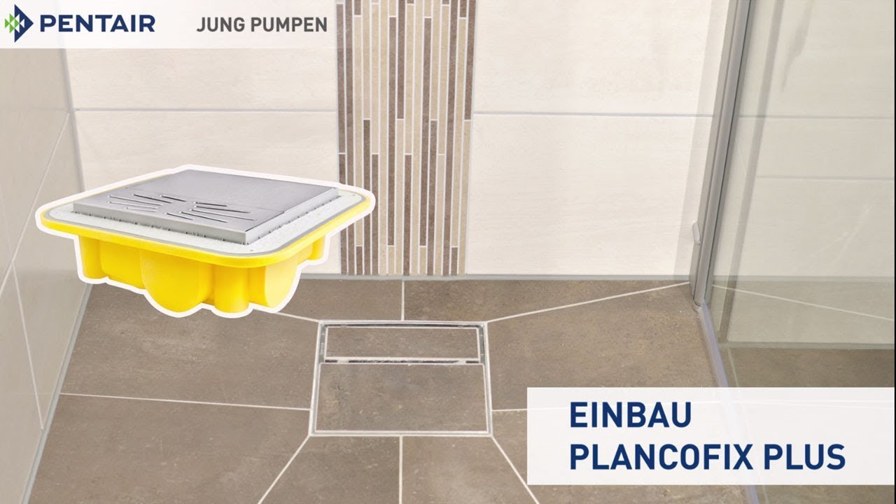 Bodengleiche Dusche Altbau Installation Of A Floor Level Shower In An Old Building With The Plancofix Plus Floor Drain Pump