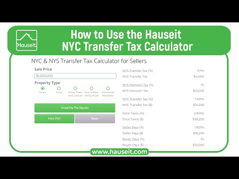 Nys Sales Tax Calculator >> Nyc Nys Transfer Tax Calculator For Sellers Hauseit