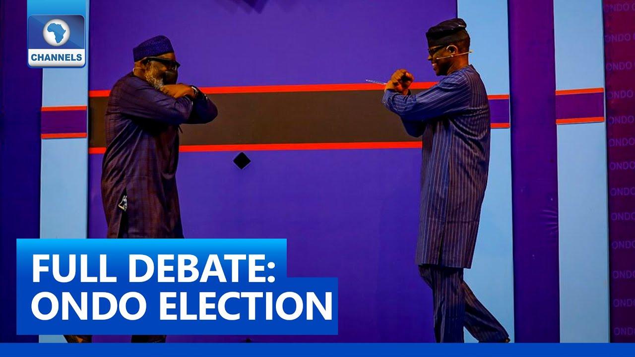 Download FULL VIDEO: Ondo Governorship Debate 2020 (Akeredolu VS Jegede)
