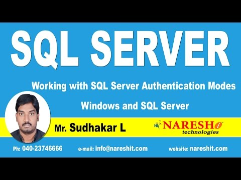 Working with SQL Server Authentication Modes Windows and SQL Server | MSSQL Training