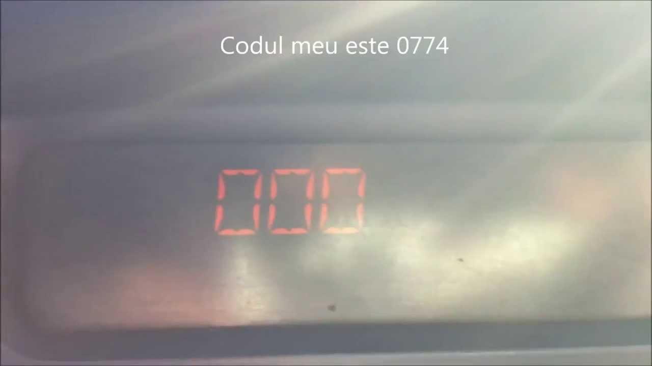 Introducere cod radio Renault Clio