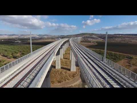 Tel Aviv - Jerusalem rapid train construction: electrification