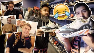 WATCH MY FRIENDS ROAST MY NEW YEEZYS (WAVE RUNNERS EXPOSED)