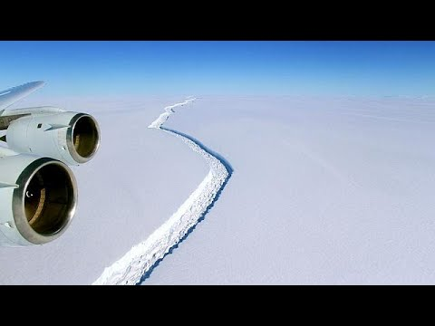 Watch | First footage of massive breakaway iceberg