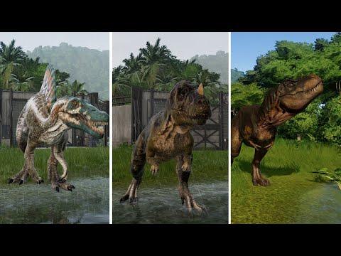 All Carnivore Dinosaurs - Jurassic World Evolution (1080p 60FPS) |