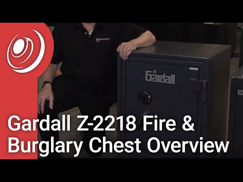 Gardall Z-2218 Fire & Burglary Chest Overview With Dye The Safe Guy