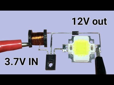3 7v To 12v Led Driver Circuit Simple Boost Converter Youtube