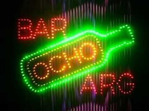 Cuadro luminoso bar casero leds youtube - Cuadros para bares ...