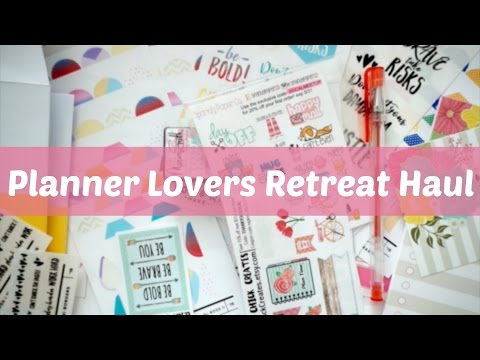 SoCal Planner Lovers Retreat (Mega) Haul | jacquiplanana