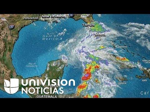 Así avanza Alberto, la primera tormenta subtropical de la temporada.