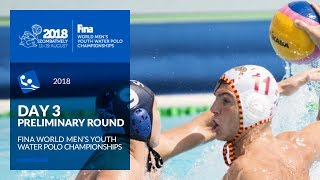 RE-LIVE | Water Polo - Day 3 - 4th FINA World Men's Youth Water Polo Championships 2018