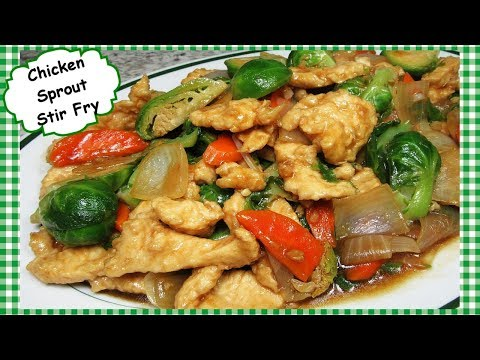Chinese Velvet Chicken and Brussel Sprouts Stir Fry Recipe Brussels Sprouts