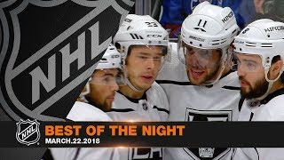 Kopitar's first four-goal game, Couture's OT winner own the night thumbnail