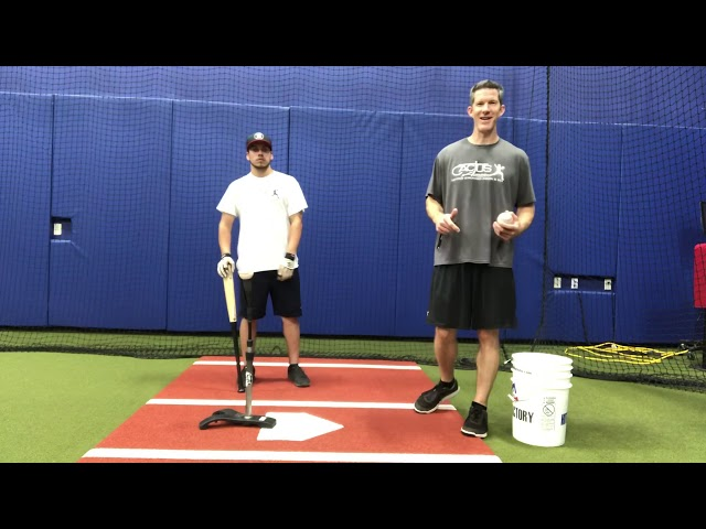 Batting Tee- Back Side into Front Side Drill
