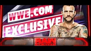 CM PUNK WWE RETURN EXCLUSIVE On WEBSITE - CM Punk Shocking Return to WWE
