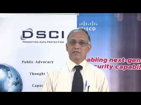 N.D. Kundu speaking on DSCI-Cisco Security Thought Leadership Program