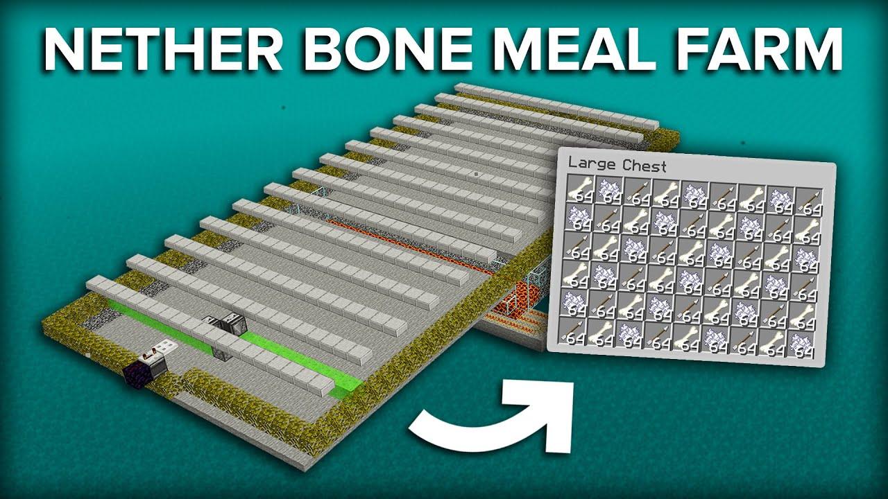 Minecraft Skeleton Bone Meal Farm - 850+ Items Per Hour
