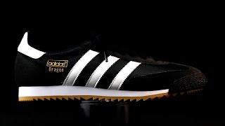 Adidas Originals Dragon negro con detalles en blanco.
