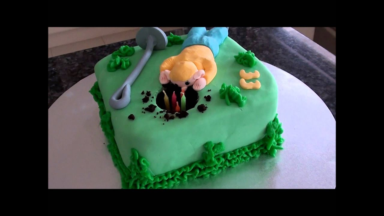 Metal Detecting Fondant Birthday Cake Youtube