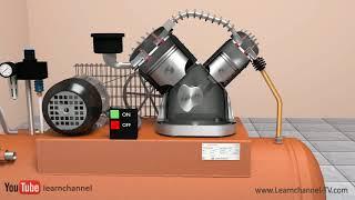 How does an Air Compressor work? (Compressor Types) - Tutorial Pneumatics
