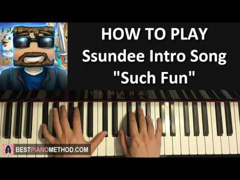 "HOW TO PLAY - SSundee Intro Song - ""Such Fun"" - Tobu (Piano Tutorial Lesson)"