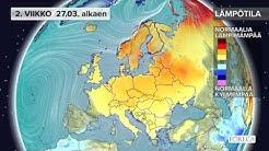 Kuukausiennuste lämpötiloista 21.3.2017: Melko lauha sää jatkuu