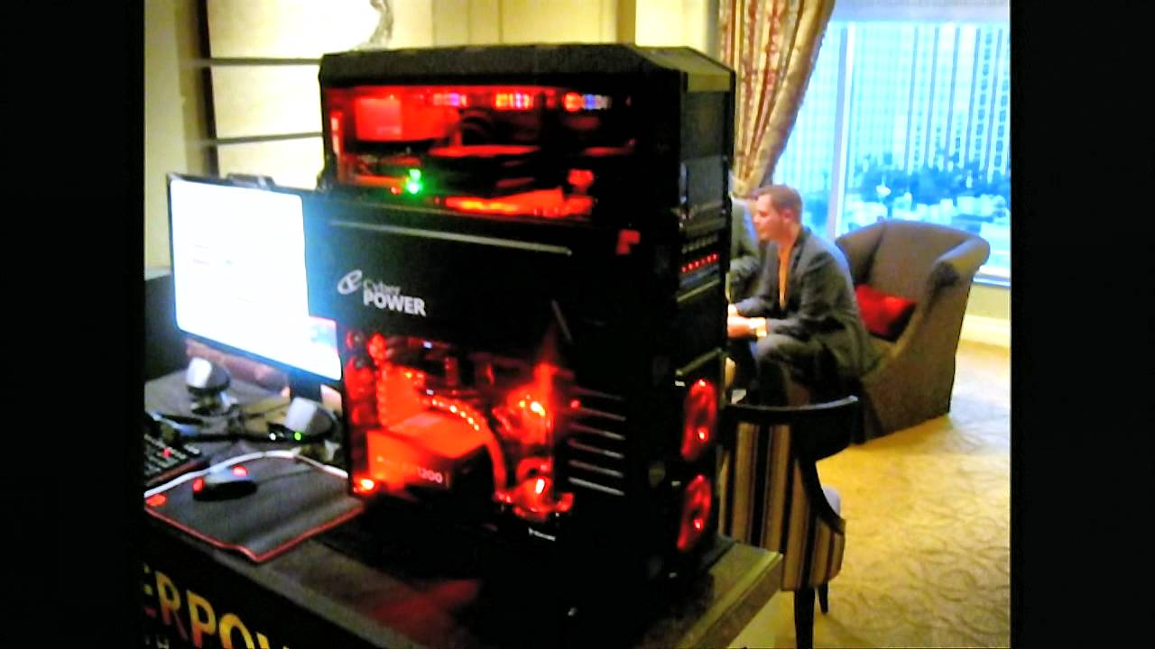 ces day cyberpower fang iii black mamba dual system pc youtube