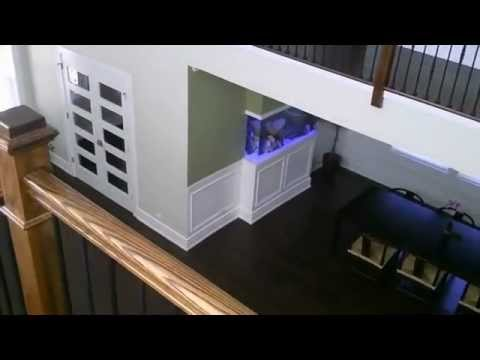 160 gallon room divider style in wall salt water fish aquarium youtube - Fish tank partition wall ...