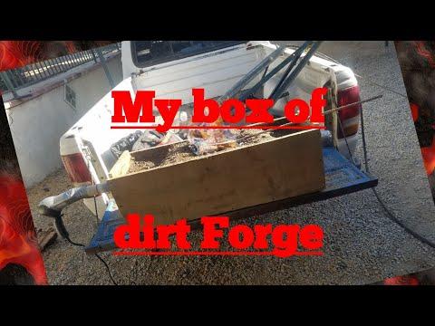 My dirt box wood burning forge