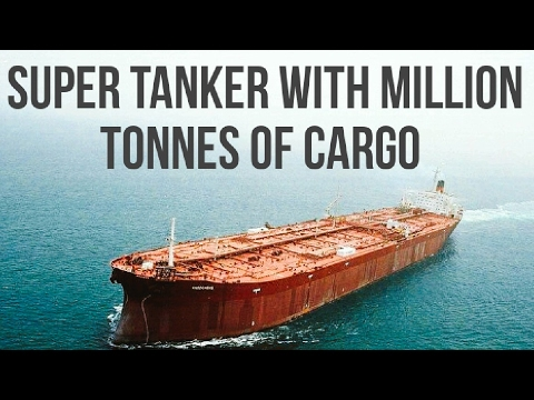 A Super Tanker 'Four Tide' with Million Tonnes of Cargo!! HD.