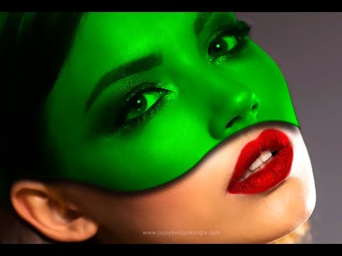 Green Color face | Photoshop Manipulation tutorial