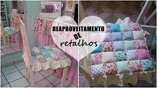 UMA LINDA ALMOFADA DE RETALHO PARA CADEIRA