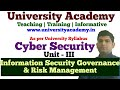 L16: Information Security Governance & Risk Management | Risk Analysis