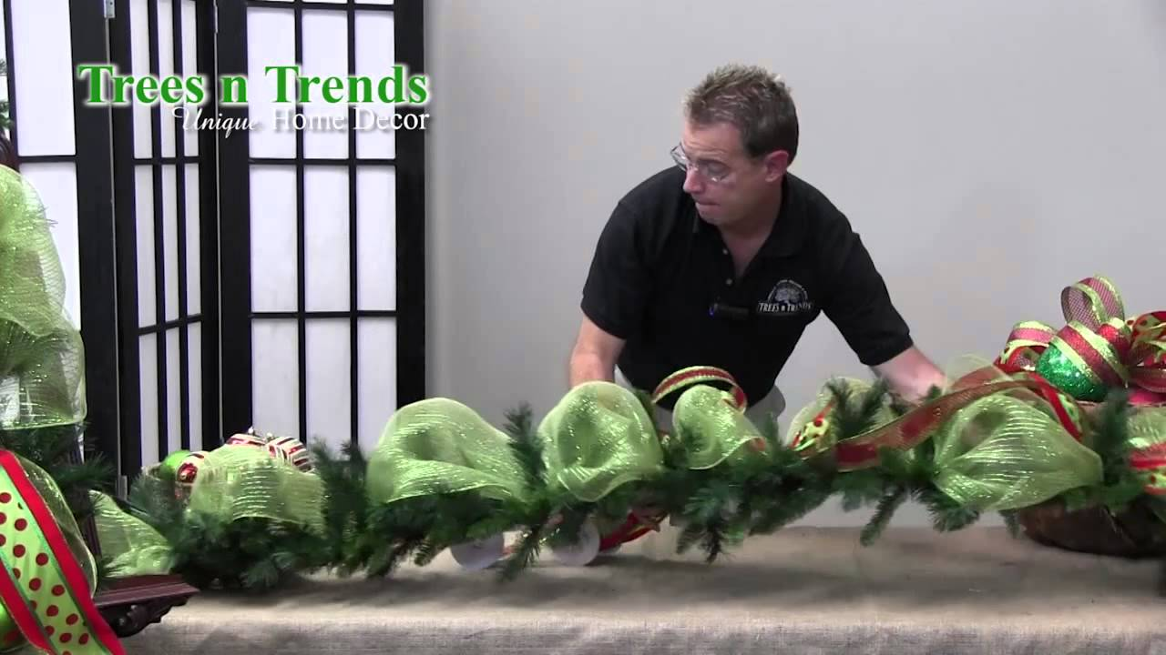 How To Decorate a Garland for Christmas