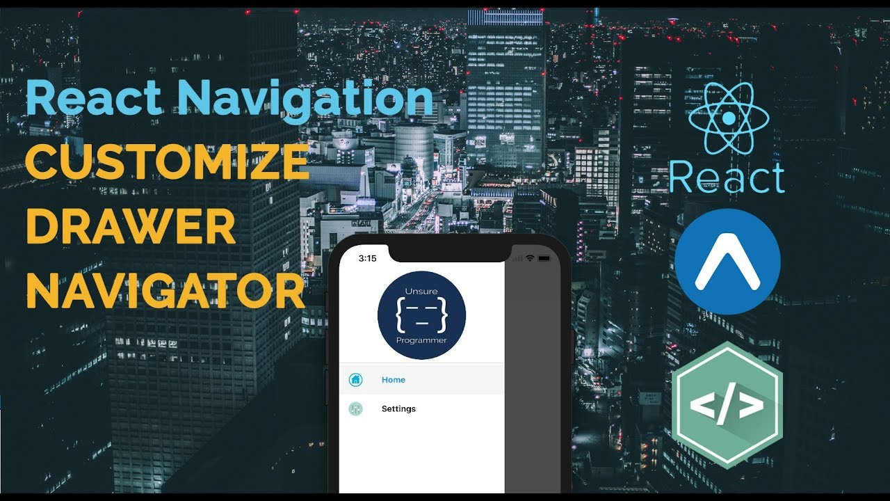 #7 React Native - Customize Drawer Navigator | React Navigation
