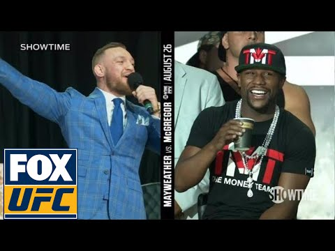 Conor McGregor on Floyd Mayweather wearing a schoolbag 'You can't even read' | TOR | UFC ON FOX