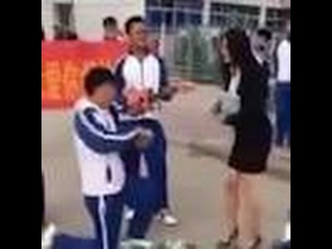 Teacher rejects teenage student's marriage proposal at school.