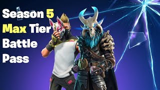 Fortnite Season 5 Max Tier Battle Pass