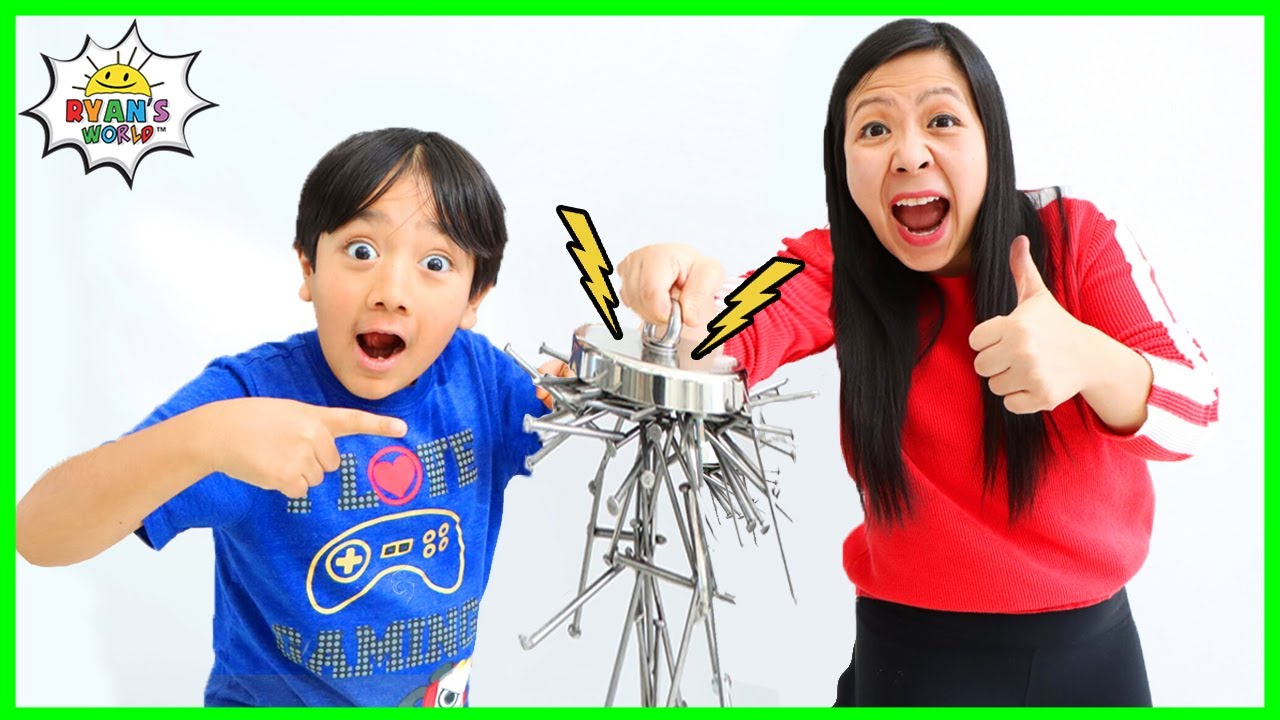 Download Learn about Magnets and Magnetism for kids! Educational Video with Ryan's World!