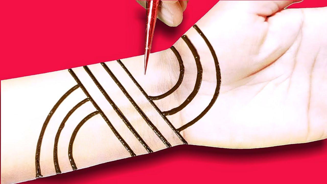 Download full hand bridal,dulhan mehndi design - simplified front hand mehndi - latest beautiful bridal mehnd