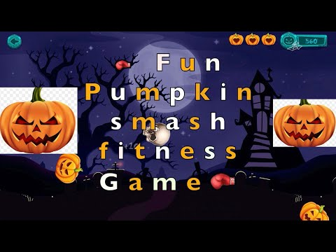 🎃Fun kids Pumpkin smash/ knockout workout game | k-12 PE at home halloween game🎃