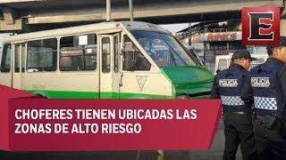 Corredor del terror: Constantes asaltos al transporte público en Periférico Norte