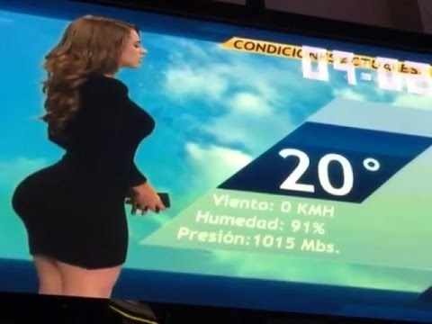 Mexico's Hottest Weather Woman Shocks Viewers With Her Large ASSet